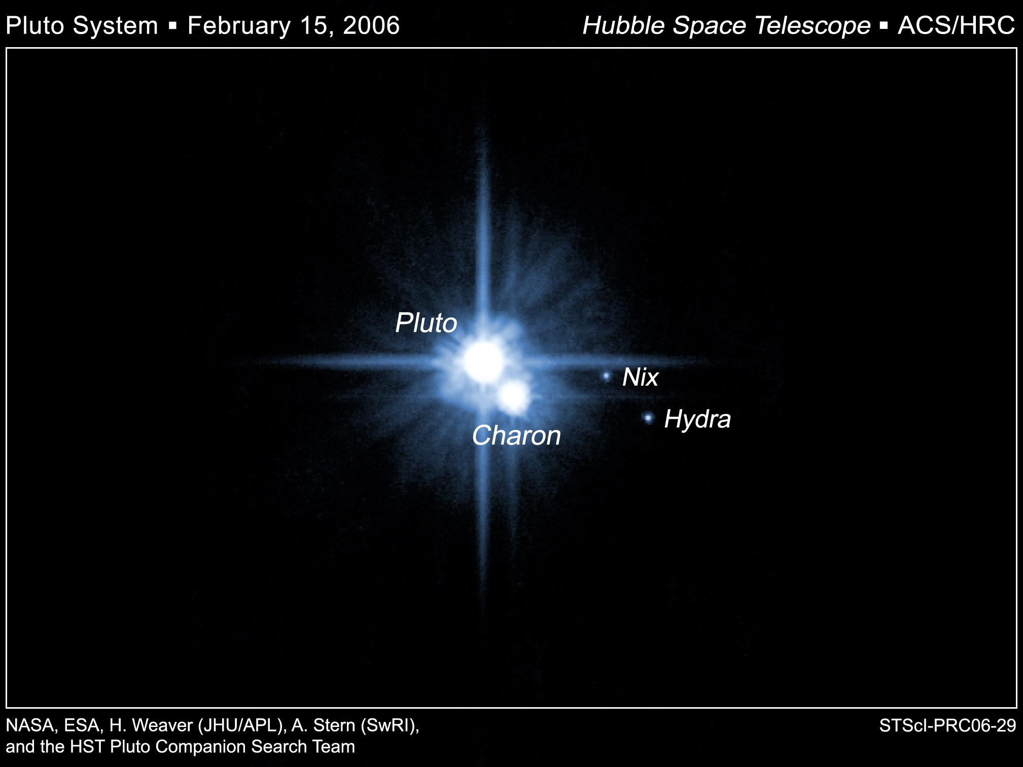 pluto's moons nix and hydra - HD2017×1513